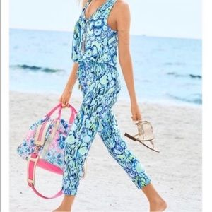 Lilly Pulitzer Blue Green Paulina Jumpsuit